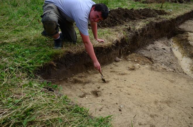 Prehistoric post holes